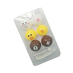 Contact Lens Case 3 Pack Animal Shapes Contact Lense Case Cute,Contact Lens Case No Leak