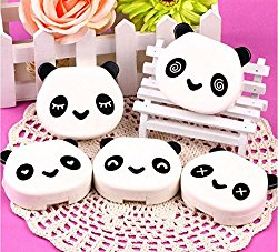 DMtse Panda Box Us-pupil Contact Lens Care Case Travel Kit Easy Carry Mirror (Random Color )