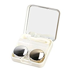 ROSENICE Contact Lens Case Mini Travel Simple Contact Case Container Holder(Luxury Gold)