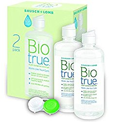 BioTrue Contact Lens Solution for Soft Contact Lenses, Multi-Purpose, 10oz Pack of 2