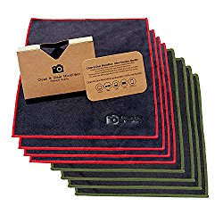 EXTRA LARGE [8 Pack] Clean & Clear Microfiber – ULTRA PREMIUM QUALITY Lens Cleaning Cloths – Camera Lens, Glasses, Screens, and all Lens.