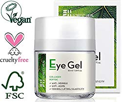 Forest Heal Eye Gel With Collagen Peptides and Niacinamide – Natural Anti Aging, Anti Wrinkle Moisturizer For Under and Around Eyes – 1.69 fl.oz.