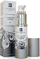 Natural Anti-Aging Under Eye Cream, Best 3-in-1 Treatment For Dark Circles, Puffy Eyes, Bags & Wrinkles – Firming, Brightening & Hydrating – Cucumber, Collagen, Hyaluronic Acid, Retinol, Vitamin C & E