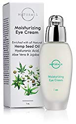 O Naturals Organic Hemp Seed Oil Anti-Aging Eye Cream for Sensitive Skin Day & Night. Moisturizes, Reduces Fine Lines & Wrinkles Under & Around Eyes. W/ Hyaluronic Acid, Jojoba Oil, Shea Butter. 1 oz.