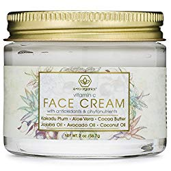 Vitamin C Face & Eye Cream – 2oz Revitalizing Natural Anti Aging Moisturizer With Kakadu Plum, Jojoba Oil, Avocado Oil, & Vitamin E for Dry Skin, Wrinkles, Aging, Eye Bags, Dark Circles & Crows Feet