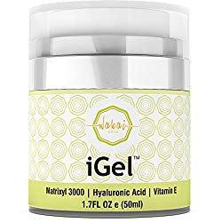 Wakai iGel Anti Aging Eye Cream – Lifting & Firming Under Eye Cream Combats Puffiness, Dark Circles & Wrinkles, With Organic Ingredients & Vitamins – Fast Absorbing & Light Formula