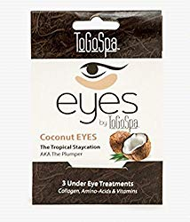 Coconut EYES by ToGoSpa – Premium Anti-Aging Collagen Gel Pads for Puffiness, Dark Circles, and Wrinkles – Under Eye Rejuvenation for Men & Women – 1 Pack – 3 Pair