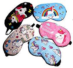 Fashion Unicorn 5Pcs Sleep Mask Cover Lightweight Blindfold Soft Eye Mask for Men Women Kids