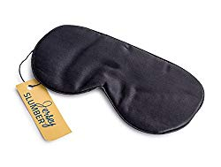 Jersey Slumber 100% Silk Sleep Mask for A Full Night's Sleep, Comfortable and Super Soft Eye Mask with Adjustable Strap, Works with Every Nap Position, Ultimate Sleeping Aid, Blindfold, Blocks Light