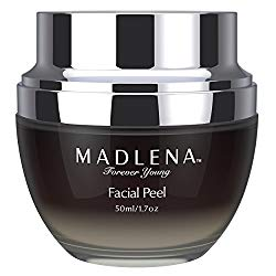 Madlena Platinum-Infused Anti-Aging Facial Peel – Anti-Wrinkle Face Peeling Gel for Flawless Skin – Reduce Lines and Sun Spots – Eliminate Acne and Blemishes – Moisturize and Replenish
