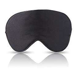 MAGIC BEAR Luxury Silk Sleep Mask & Blindfold, Super-Soft and Comfortable Eye Mask, Universal Size