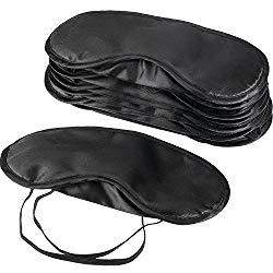 Mudder Blindfold Eye Mask Shade Cover Sleeping Nose Pad, 10 Pack
