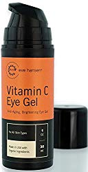 Vitamin C Eye Gel by Eve Hansen – Defying Treatment for Dark Circles, Puffiness and Wrinkles! 1 Ounce.