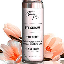 ALL IN ONE EYE SERUM. THREE ACTIONS!: Wrinkle Filler, Serum for Bags Under Eyes, Dark Circles and Puffiness. Vitamin C, Collagen, Hyaluronic Acid, Retinol and more!