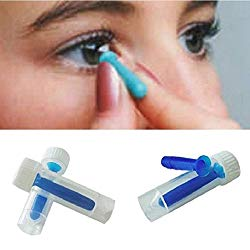 Niome Portable Contact Lens Inserter Case Box for Hard/RGP and Soft Remover Stick Set Blue
