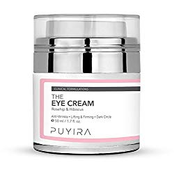 PUYIRA Rosehip Eye Cream Moisturizer , 1.7 fl.oz – Reducing Puffiness and Bags, Erasing Fine Lines and Wrinkles, Brightening Dark Circles