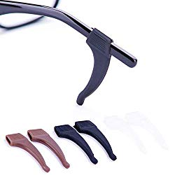 Anti-Slip Glasses Ear Hook Grip – 3 Pack – Stretchy Fit Strap for Sunglasses and Glasses