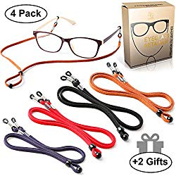 Eyeglasses Holder Strap Cord – Premium ECO Leather Eyeglasses String Holder Chain Necklace – Glasses Cord Lanyard – Eyeglass Retainer