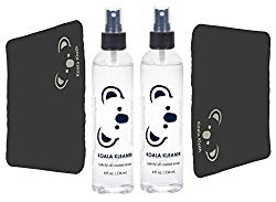 Koala Kleaner Alcohol Free and Ammonia Free Eyeglass Lens Cleaner Spray Care Kit Bundle with 2 Koala Microfiber Cloths, 16 Ounces (8oz x 2) | Safe for Cleaning All Coated Lenses and Screens