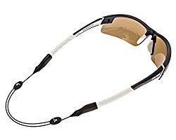 Luxe Performance Cable Strap – Premium Adjustable No Tail Sunglass Strap & Eyewear Retainer for your Sunglasses, Eyeglasses, or Prescription Glasses (Black)