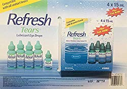 Refresh Tears Lubricant eye drops 4×15 ml, 1×5 ml