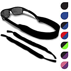 Sunglasses and Glasses Safety Strap – 2 Pack | Anti-Slip and Fast Drying Sport Glasses Retainer Strap (Black)