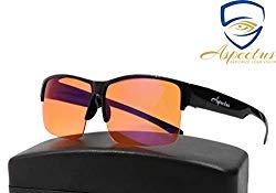 Aspectus Fitover Blue Light Blocking Glasses | Fits Over Prescription Eyeglasses | Amber Lenses for Deep Sleep & Relaxation | Enhance Sleep Cycle | Reduce Eyestrain Migraine Headaches Insomnia