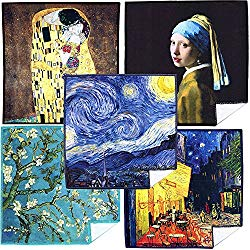 EXTRA LARGE [5 Pack] World Best Classic Art Collection – ULTRA PREMIUM QUALITY Clean & Clear Microfiber Cleaning Cloths (Best for Camera Lens, Glasses, Screens, and all Lens.)