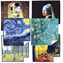 EXTRA LARGE [6 Pack] World Best Classic Art Collection – ULTRA PREMIUM QUALITY Clean & Clear Microfiber Cleaning Cloths (Best for Camera Lens, Glasses, Screens, and all Lens.)