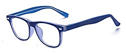 Outray Kids Teens Computer Blue Light Blocking Glasses for Boys and Gilrs Anti Eyestrain 2185c2 Blue