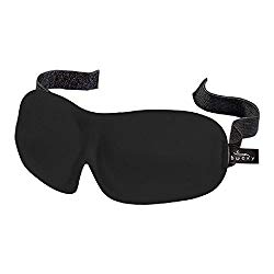 Bucky 40 Blinks Ultralight & Comfortable Contoured, No Pressure Eye Mask for Travel & Sleep, Perfect With Eyelash Extensions – Black