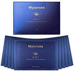 Mylansea Anti-Aging Eye Treatment Mask for Women and Men, under Eye Mask for Dark Circles and Fine Lines with Key Ingredient EGF and SODIUM HYALURONATE, 12 Pairs