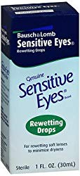 Bausch & Lomb Sensitive Eyes Rewetting Drops 1 oz (Pack of 6)