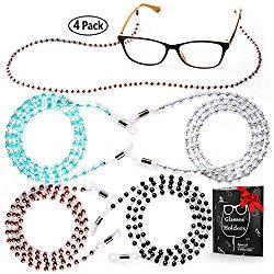 Eye Glasses String Holder – Premium Beaded Eyeglass Holders Around Neck – Eyeglass Necklace Chain Cord for Women