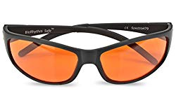 Blue Blocking Amber Glasses for Sleep – BioRhythm Safe(TM) – Nighttime Eye Wear – Special Orange Tinted Glasses Help You Sleep and Relax Your Eyes