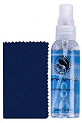 Glasses Cleaner Spray Kit – Includes Thick Microfiber Cloth For Eyeglass Cleaning Solution
