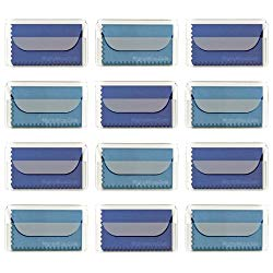 "MightyMicroCloth Microfiber Eyeglass Cleaning Cloths – Vinyl Travel Pouch – Lens Cleaner for Glasses, Camera Lenses, Tablets, Phone Screens, & Electronics – 12 Pack Royal/Blue (6""x7"")"