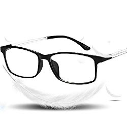 VVDQELLA Blue Light Blocking Lightweight Reading Glasses 1.5 Anti Eye Strain Unisex