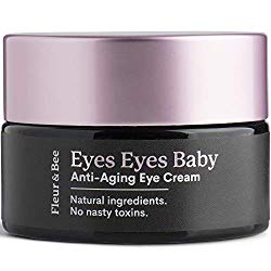 Anti Aging Eye Cream – 100% Vegan Natural Firming Under Eye Cream Hydrating Moisturizer with Caffeine, Organic Aloe for Dark Circles, Puffiness, Bags, Wrinkle – Eyes Eyes Baby by Fleur & Bee – 0.6 oz