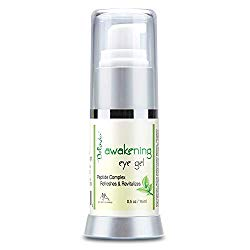 Daily Under Eye Gel – Reduces the Appearance of Puffiness, Wrinkles, Fine Lines, Bags, Dry, Crepe Skin – Organic Aloe, Vitamin E, Hyaluronic Acid – Firming Moisturizing. For Men & Women By Deluvia