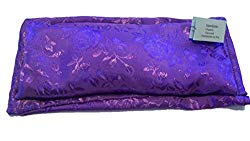 Flax Seed and Lavender Silky Satin Eye Pillow with Matching Slip Cover