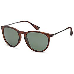 Gamma Ray Polarized Sunglasses for Women – Olive Lens on Matte Tortoise Frame