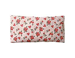 Peacegoods Cotton Eye Pillow COVER 4.5 x 9 Washable – fits our eye pillows or yours – flowers pink red