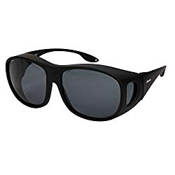 Yodo Fit Over Glasses Sunglasses with Polarized Lenses for Men and Women,Black