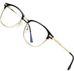 ATTCL Unisex Blue Light Blocking Glasses Eyeglasses Frame Anti Blue Ray Computer Game Glasses 5054-Gold