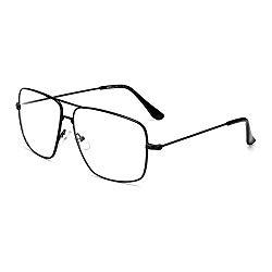 Dollger Classic Glasses Clear Lens Non Prescription Metal Frame Eyewear Men Women Black
