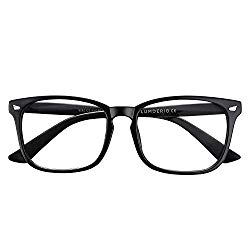 LUMDERIO Blue Light Blocking Glasses Computer Game Glasses Square Eyeglasses Frame Glasses Unisex
