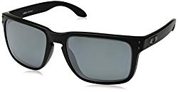 Oakley Men's Holbrook XL Polarized Iridium Square Sunglasses, MATTE BLACK, 59.0 mm