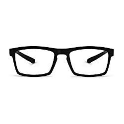 OCCI CHIARI Reading Glasses Readers Women Men Prescription Eyeglasses Computer Eyewear (A-Black, 1.5)