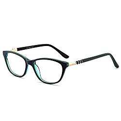 OCCI CHIARI Women Casual Eyewear Frames Non-Prescription Clear Lenses Eyeglasses (A-Blue)